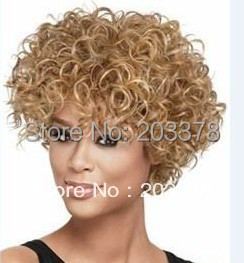 Aliexpress.com : Buy Curly Short Hairstyle Light auburn ...