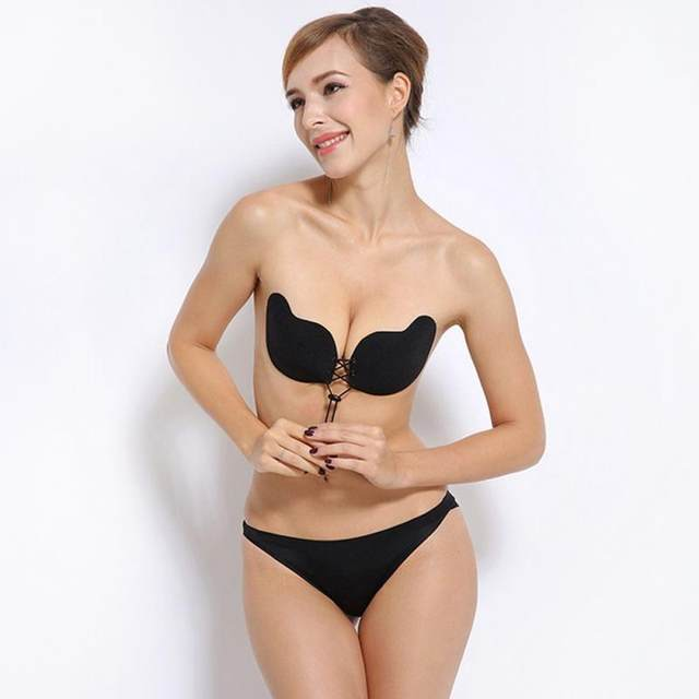 e3ddcc61b2a39 2018 Sexy Self-Adhesive Invisible Silicone Bra Woman Push Up Bras Bust Front  Closure Gel Strapless Backless Seamless Sticky Bras