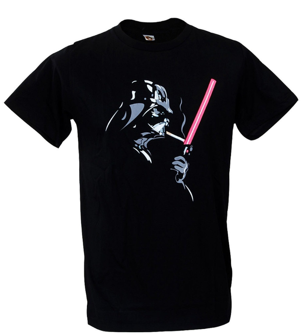 banksy cool darth vader smoke cigar indie star wars t shirt men 39 s customized designs tops tees. Black Bedroom Furniture Sets. Home Design Ideas