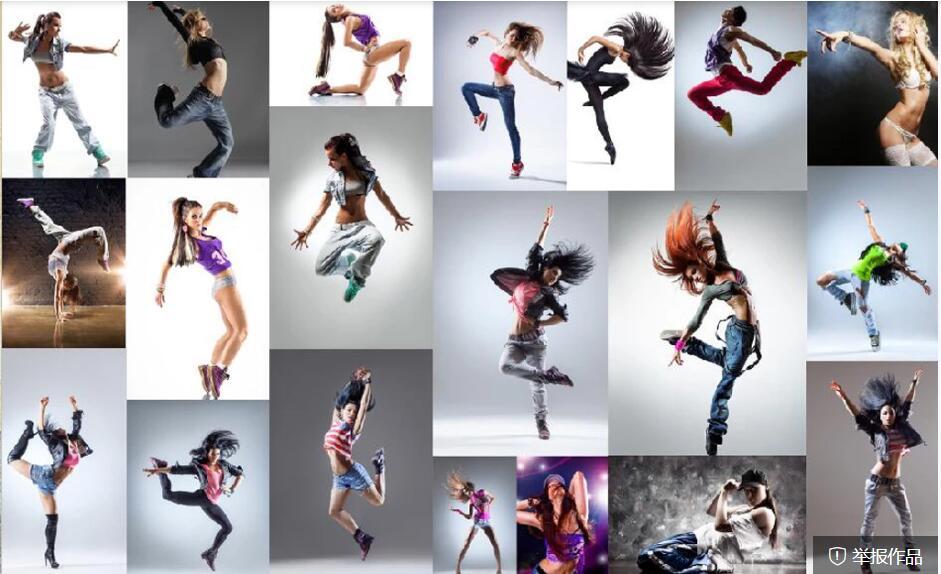 Custom wallpaper mural fashion dance beauty gym background wall