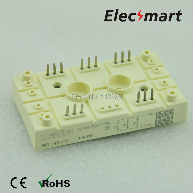Semikron type Three phase bridge rectifier SKD145/16 semikron semikron skm100gb128d skm100gb123d original new igbt modules