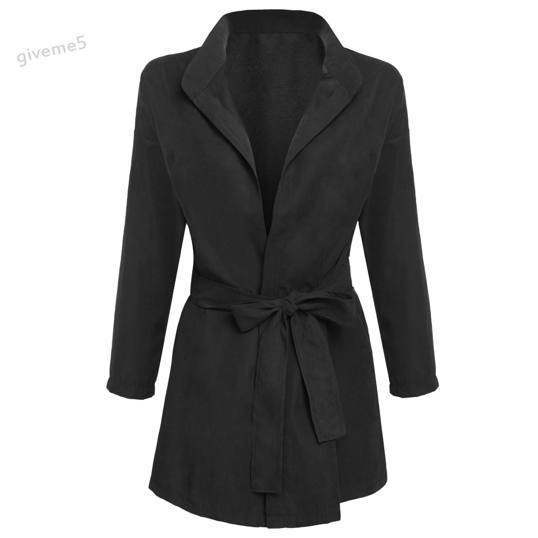 Autumn and Winter Fashion Women Coat Batwing Sleeve Front Open Outwear Jacket Tunic Casual Windproof Cardigan
