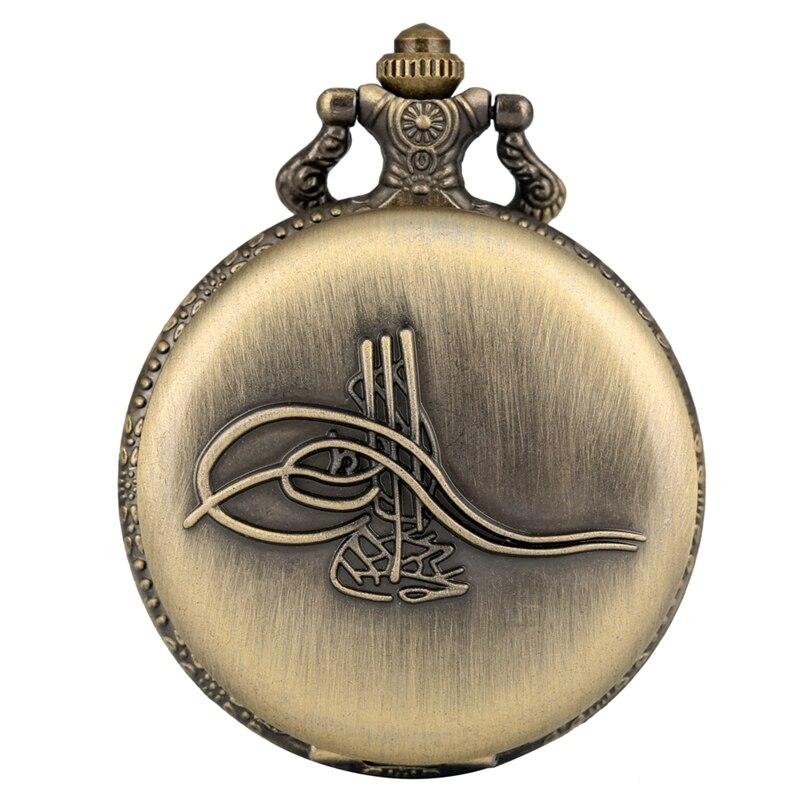 Musical Instrument Design Retro Bronze Quartz Pocket Watch Souvenir Pendant Necklace Watch Fob Chain Jewelry Clock Luxury Reloj