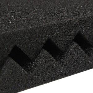 Image 5 - 24 pces 1x12x12 polegadas isolamento acústico espuma estúdio painéis acústicos studio cunhas de espuma painel de tratamento de absorção à prova de som