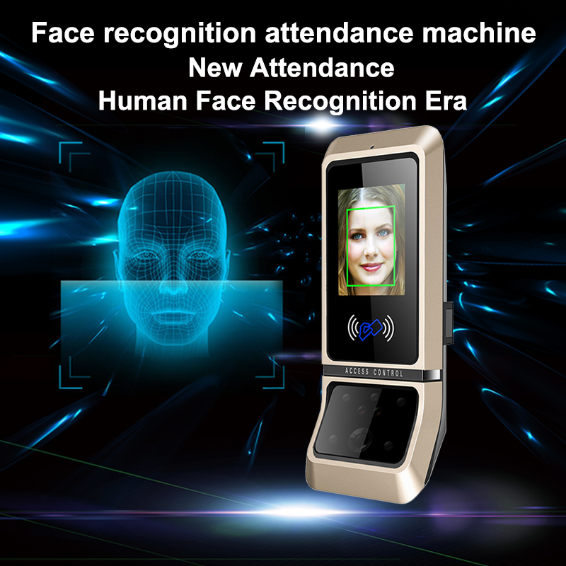 Face Access Control System Face Recognition Door Lock Biometric System USB Time Clock Recorder For Office Employee Equipment