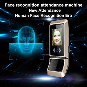 Image 1 - Face sistema de controle acesso reconhecimento rosto fechadura da porta sistema biométrico usb time clock recorder para escritório equipamentos do empregado
