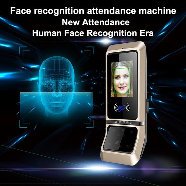 Face sistema de controle acesso reconhecimento rosto fechadura da porta sistema biométrico usb time clock recorder para escritório equipamentos do empregado