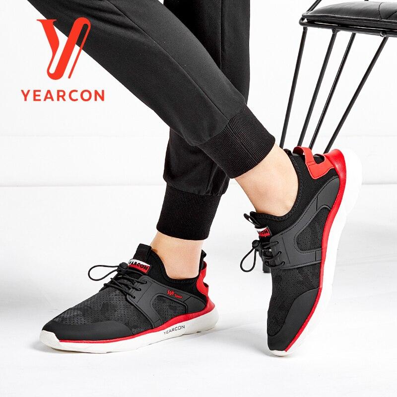 Calçados Sneakers Casual red Vulcanize Dos De Moda 8412ax72323w Para Sapatos Atlético Black Segurança Esporte Yearcon Homens fwgCpq