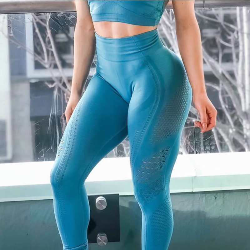 Women-New-Flawless-Knit-Tights-Gym-High-Waisted-Seamless-Leggings-Eyelet-Knit-Fitness-Yoga-Pants-Girl_conew1