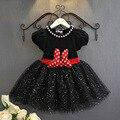 1 unids Verano de los Bebés de Minnie Vestidos de Los Niños Vestido De Fiesta De Las Niñas Prom Traje de Princesa Niño Minnie Vestido Deguisement Enfant