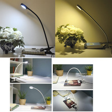 Clip-on Book Reading Lamp with USB 3W Flexible LED Reading Lamp USB Power Supply LED Reading Book Lamp deebow dee 021 3w 3 led 240lm flexible neck aquarium lamp
