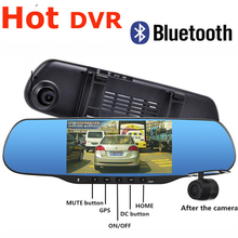 5 0 Touch Android Rearview mirror Car DVR Bluetooth WiFi FM FHD 1080P dash camera parking