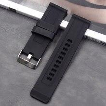 Ремешок силиконовый 24 мм для мужчин и женщин модный спортивный