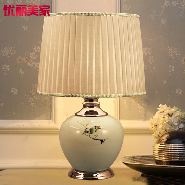 Tuda free shipping new chinese style table lamp luxury fashion hand painted ceramic table lamp
