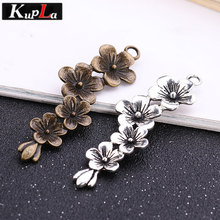 Vintage Metal Plum Branches Charms for Jewelry Making Accessories Classic Handmade Fashion DIY Blossom Pendant