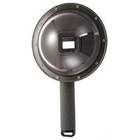 Underwater Diving Fisheye Dome Waterproof Housings Cover Case + Float Bobber Handle for GoPro Hero 5\/6\/7 Action Camera