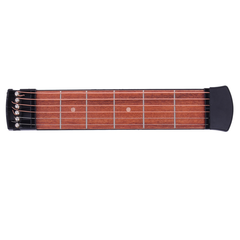 Practical Poems Portable Guitar Musical Instrument Acoustic Guitar Practice Tool Gadget 6 String 4 and 6 Fret Mode