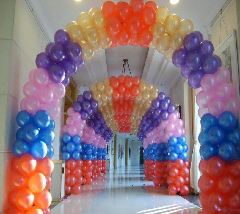 3x2.5 m Ballon Stand Colonne De Mariage Ballons Arc Stand Cadre Base DIY Décoration D'anniversaire Ballons Accessoires Articles De Fête