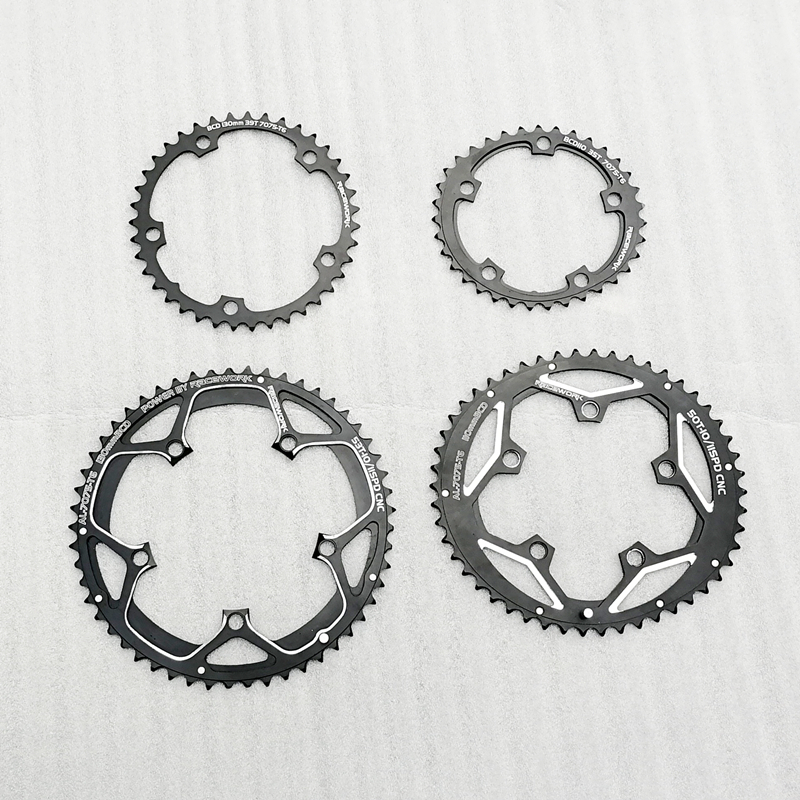 130BCD 110BCD Chainring 35//50T 39//53T Double Chain Ring for SHIMANO FSA SRAM