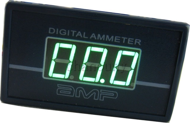 Digital Amp Meter Panel : 0 50a green led digital ac ammeter amp panel meter ampere gauge