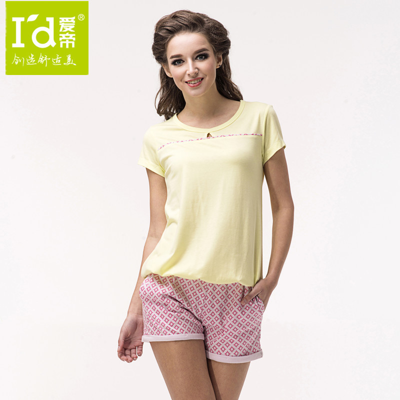 Wholesale for 2014 new cotton women home clothes retro T shirt and shorts pyjamas
