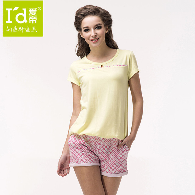 41f40af885 Wholesale For 2014 New Cotton Women Home Clothes Retro Fashion T-shirts and  Shorts Pajamas Bottoms Set Women Summer Nightwear