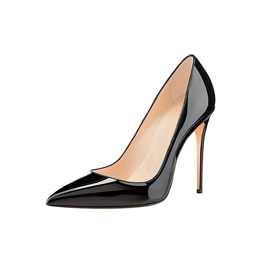 цена GENSHUO High Heels Women Pumps Pointed Toe Thin Heel 10cm Ladies Shoes Prom Heels Women Sexy Party Wedding Shoes