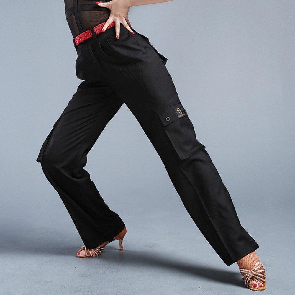 2018 Original Latin Dance Trousers Man Woman Comfortable Trousers Black Pant Male Rumba Practising Clothes Women