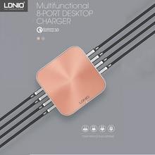 LDNIO A8101 быстрое зарядное устройство 3,0 8 портов USB зарядное устройство для iPhone iPad samsung Несколько зарядки 5 V 10A