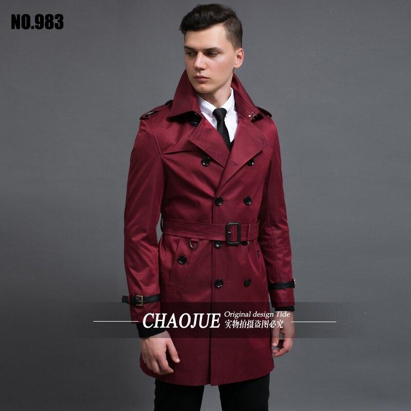 new arrival male slim double breasted coat winter windbreaker high quality large Overcoat plus size S-2XL3XL4XL5XL6XL cj983