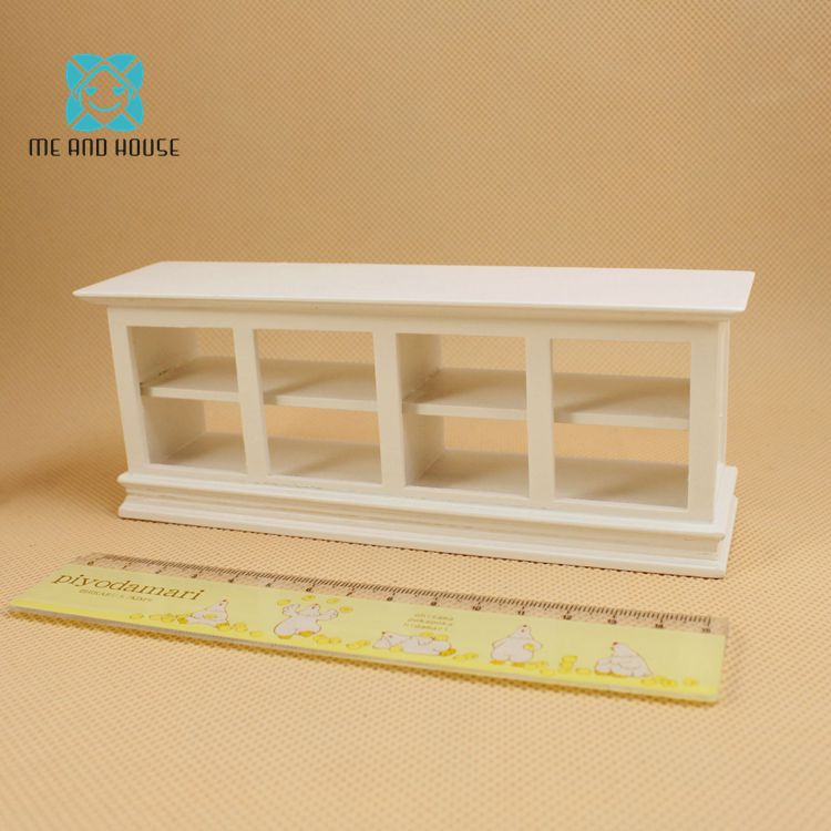 Miniature Furniture 1:12 Doll House Wooden Handmade Display Cabinet Show Case Shop Counter
