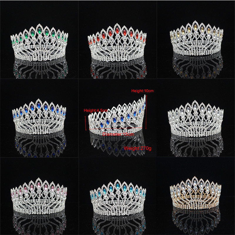 Gorgeous Wedding Bridal Queen Tiara Crowns Bride Headpiece For Women Pageant Hair Ornaments Wedding Head Jewelry Accessories