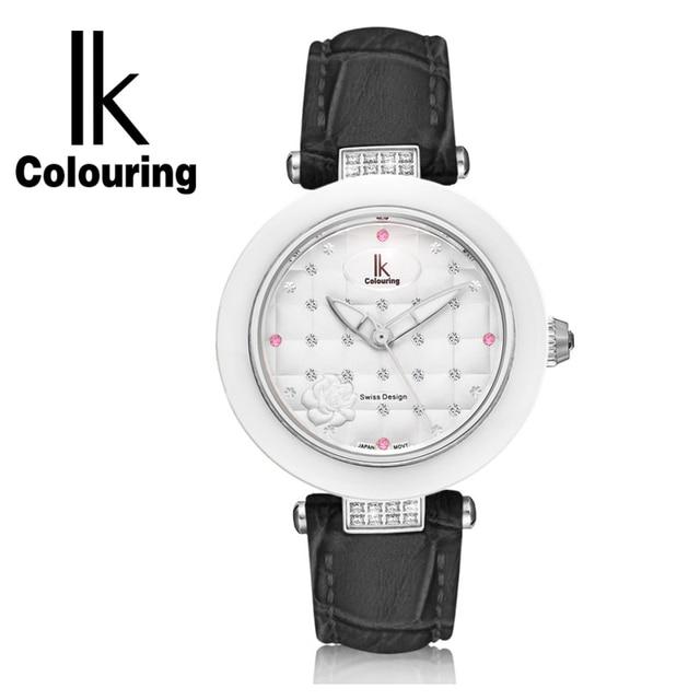IK ceramic quartz watch fashion casual waterproof Ladies Watch Strap student table female