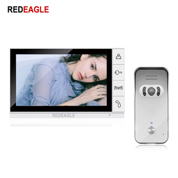 REDEAGLE Home Security 9 inch Color LCD Monitor Video Door Phone Doorbell Intercom System Wide Angle IR Night Vision Camera