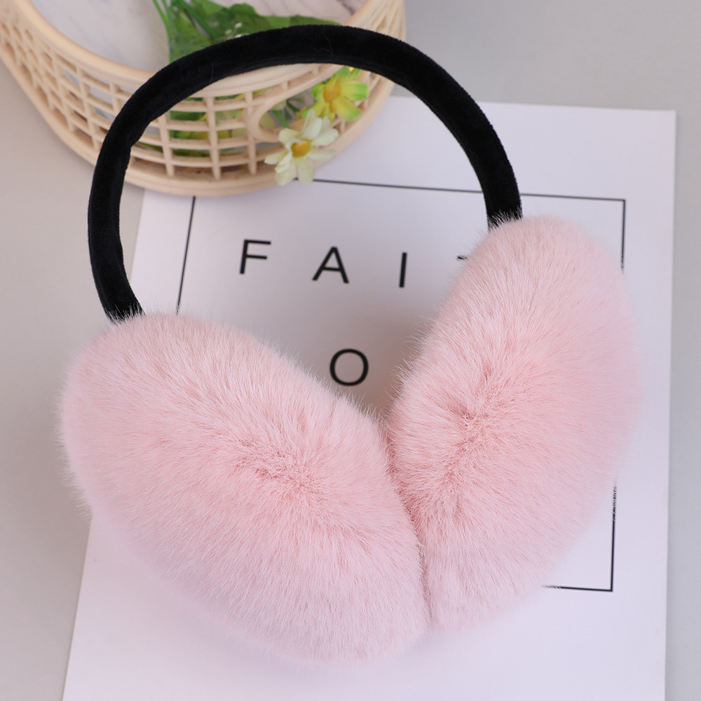 Earmuffs Woman Keep Warm Earmuffs Ladies Girls Adjustable Furry Ear Muffs Comfy Soft Snow Outdoor Winte Earmuffs Mujer L5