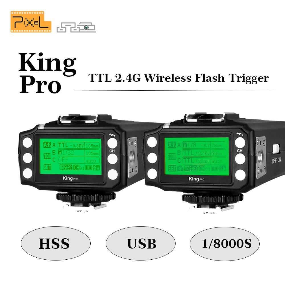Pixel King pro kit TTL 2.4G Wireless Flash Trigger Transmitter & Receiver For Canon for Nikon Pixel M8 X900C Flash speedlite объектив lensbaby pro effects kit for nikon lbpkn
