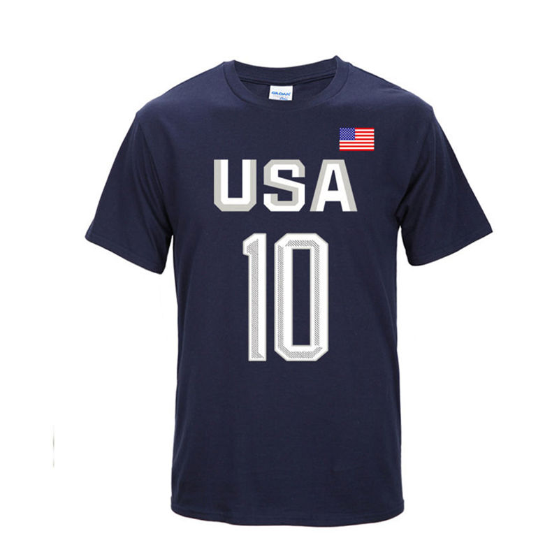 USA Dream Team Kyrie Irving 10   T  -  shirt   New Fashion Men Cotton O-neck Short Sleeve   T     Shirt   Hip Hop Tops Flag Tee