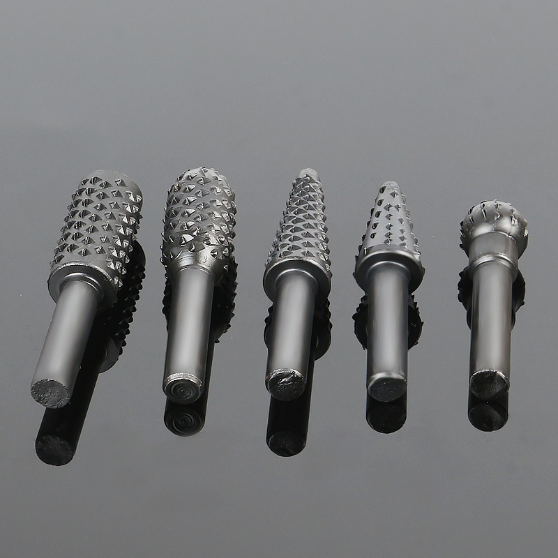 Mini Black Driil Woodworking Hand Tools Router Bits 5 PCS Wood WorkingDrill Bits For Carving Rotary Tool Kit Rrafts Dremel Acces free shipping 10pcs 6x25mm one flute spiral cutter cnc router bits engraving tool bits cutting tools wood router bits