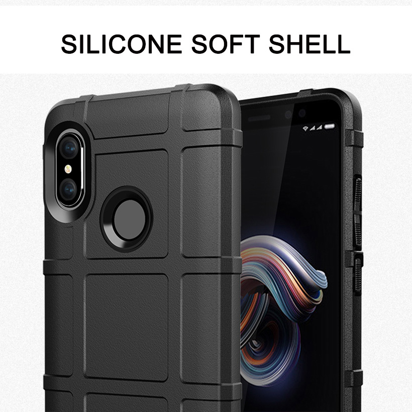 Silicone Cases For Xiaomi Redmi Note 5 6 Pro Case PocoPhone F1 Armor Case Covers For Xiaomi Redmi 5 Plus Mi Mix 2S Bumper in Fitted Cases from Cellphones Telecommunications