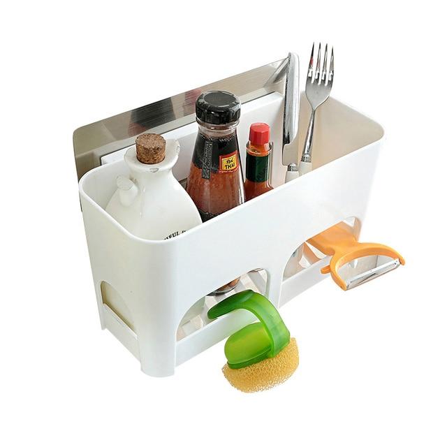Superior Drain Rack Kitchen Brush Sponge Holder Detergent Box Organization  Accessories Supplies Sucker Storage Tool