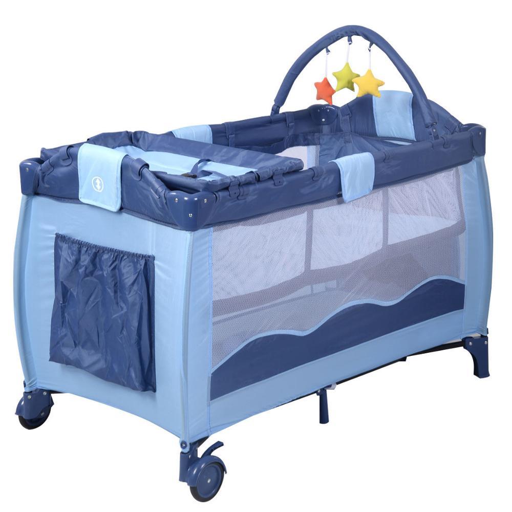New Green Baby Crib Playpen Playard Pack Travel Infant Bassinet Bed Foldable