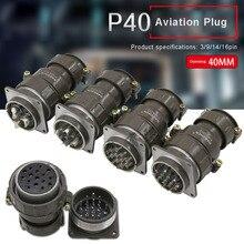 цены на Aviation Connector Plug Socket P40 3pin 9pin 14pin 16pin 40MM Round Connectors for Industrial Equipment  в интернет-магазинах