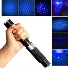 450nm 50000mw High Power Blue Laser Pointers Flashlight burn match candle lit cigarette wicked wholesale LAZER With Glasses Box
