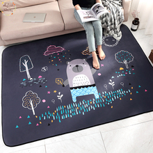 Infant Shining Baby Play Mats Children Cartoon Carpet Suede Large Rugs Living Room Bedroom Thicking Blanket