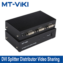 MT-VIKI  DVI Splitter Distributor Video Sharing 2 Port 1 input to 2 output multiple HDTV monitor Synch Display MT-DV2H mt viki maituo 250mhz 2 input 2 output selector vga splitter switch connector support 1920 1440 high resolution hd mt 202s
