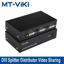 MT VIKI DVI Splitter distribuidor compartir Video 2 puerto 1 entrada 2 salida múltiples monitor hdtv sincronización de MT DV2H