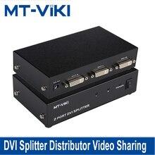 MT VIKI dvi splitter distribuidor compartilhamento de vídeo 2 porta 1 entrada para 2 saída múltipla monitor hdtv synch display MT DV2H