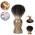Graceful Resin Handle Shaving Shave Brush Black Badger Hair Barber Salon Tool FEB28