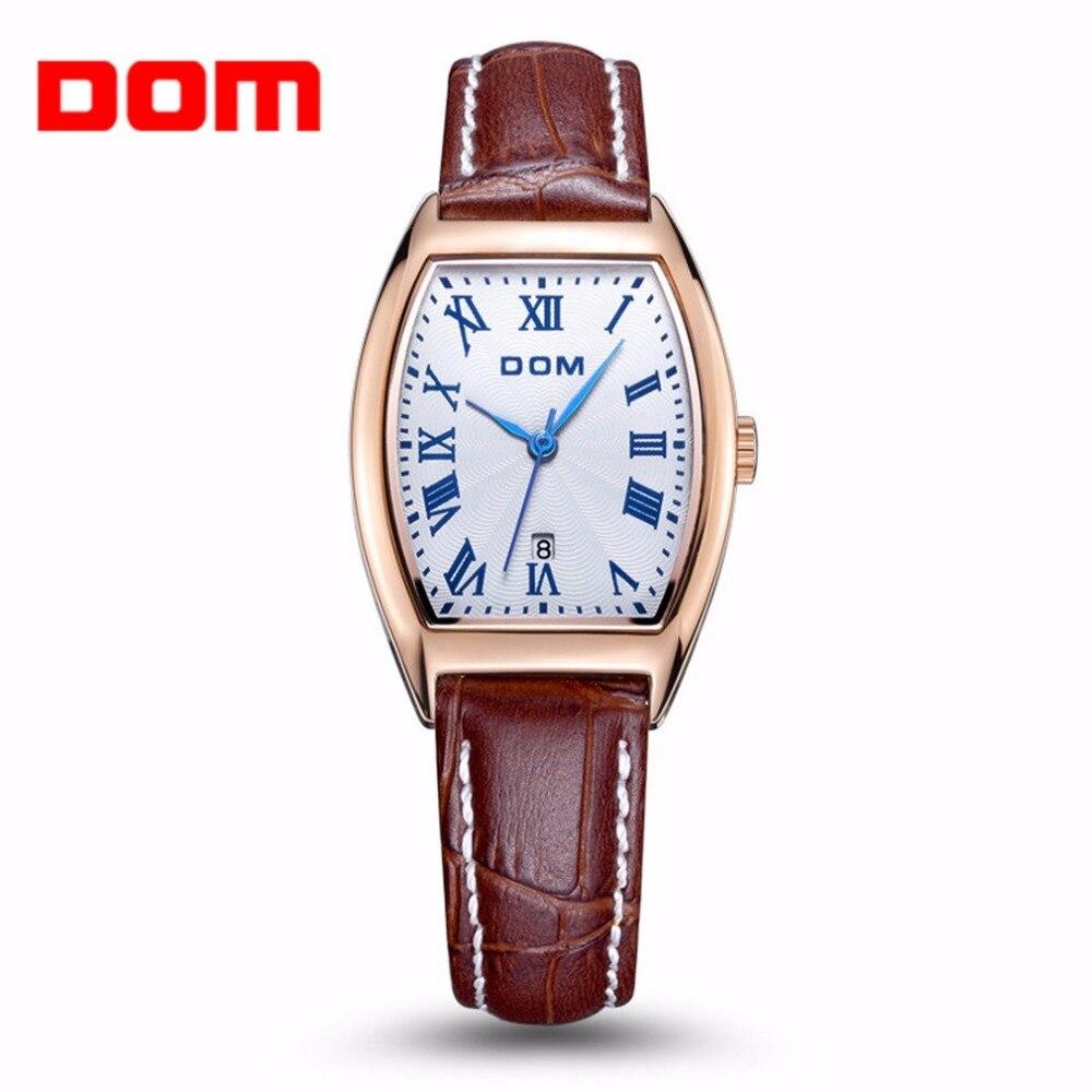 ФОТО Women Watches DOM Unique Design Women Wrist Watch Classic Vintage Design Women Female PU Leather Strap Quartz Wrist Watches