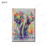 MYT Christmas Gift Elephant Abstract Oil painting 100% Handpainted Wall Art Canvas Bedroom Wall Art Picture for Home Wall Decor